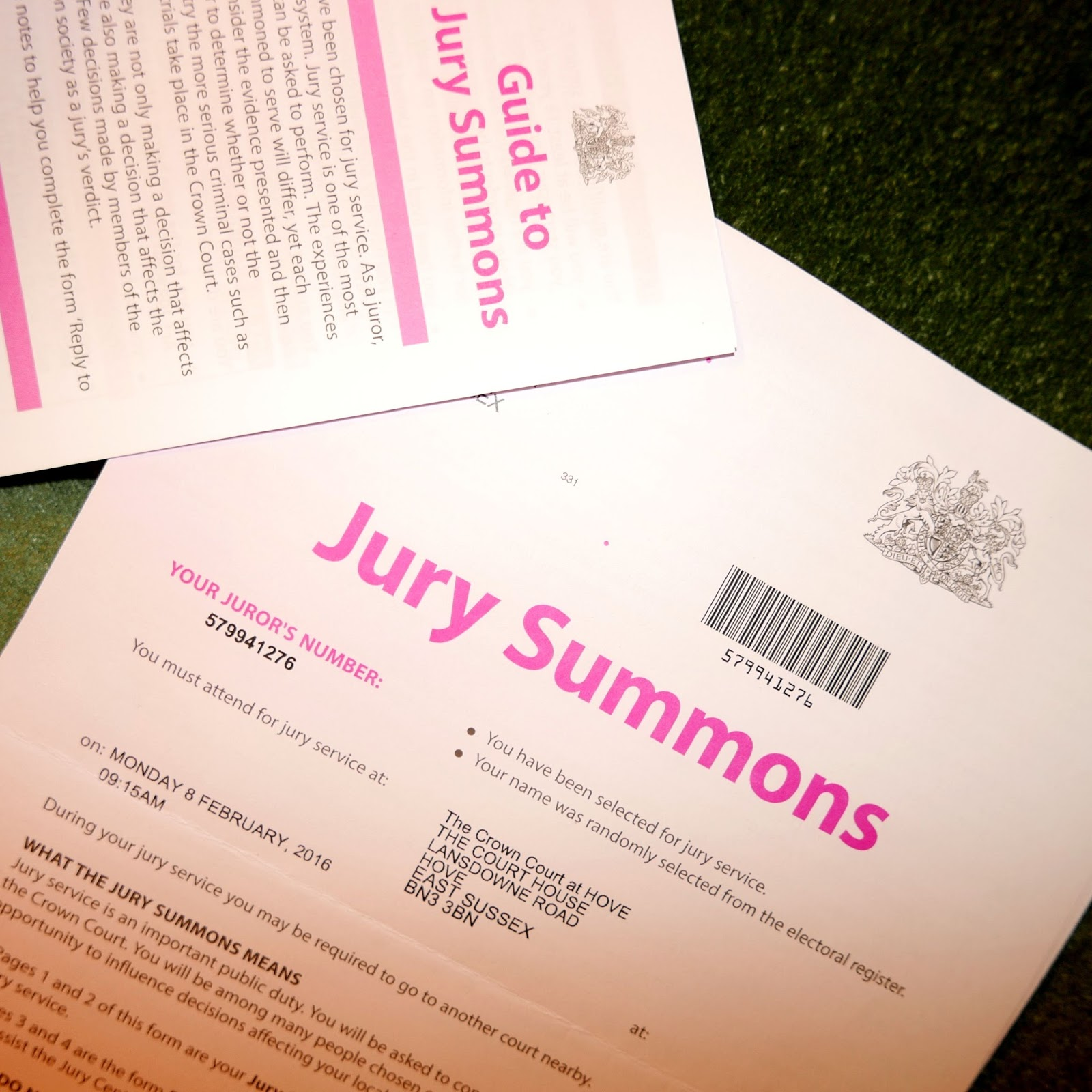 Lucy melford summoned to jury service summoned to jury service stopboris Image collections