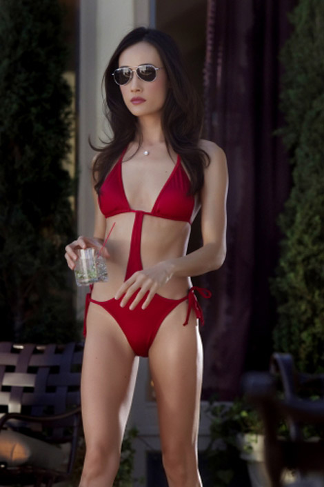 maggie q sexy bikini photo