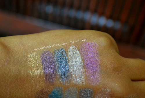 Urban Decay Eyeshadow Palette Swatches Mariposa Limited Edition Sephora Exclusive Limelight Rockstar Gunmetal Skimp Infamous