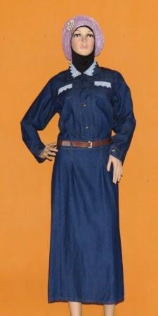 Gamis Maxi Bahan Jeans GJ1079