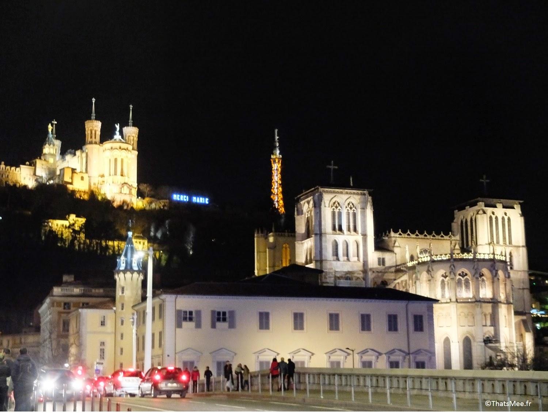 visiter Lyon Fourvière Quais de Saone lumières nuit by night, ThatsMee.fr