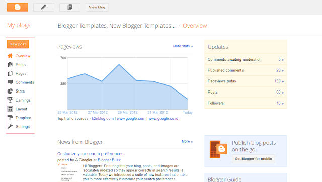 how to use new interface of blogger