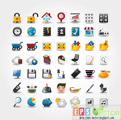 [Vector] - Internet - Website icons set 2