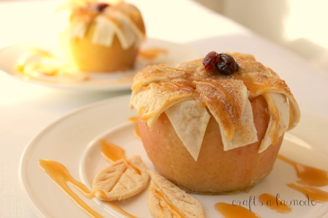 Apple Pie Baked in an Apple
