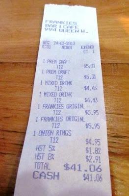 Teena In Toronto Frankie S Bar Amp Cafe Toronto On