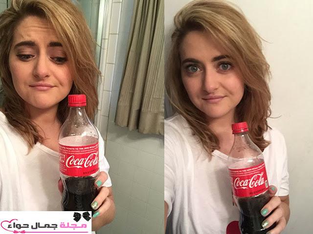 غسل الشعر بالصودا - غسل الشعر بالكولا - غسل الشعر بالكوكاكولا - غسل الشعر بالكوكولا - rinse hair with coke