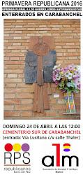 Homenaje a los guerrilleros antifranquistas enterrados en Carabanchel