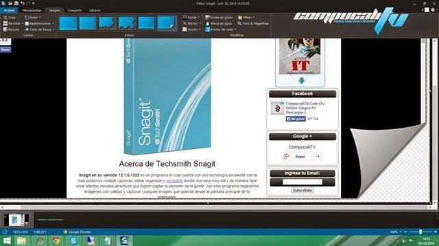 Techsmith Snagit 12.2 Español Sacar Capturas de Pantalla