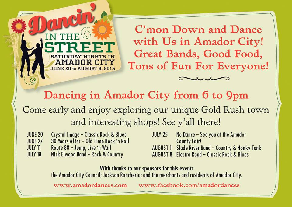 Dancin' in the Street in Amador City - Saturday Nights