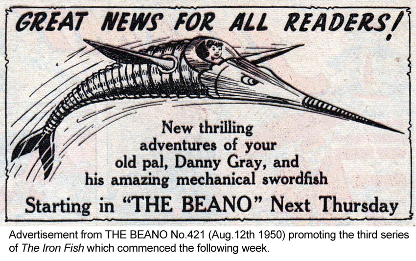 Blimey the blog of british comics the iron fish for Iron in fish