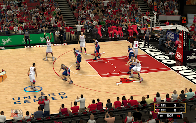 NBA 2K13 Chicago Bulls Court Patch Mod
