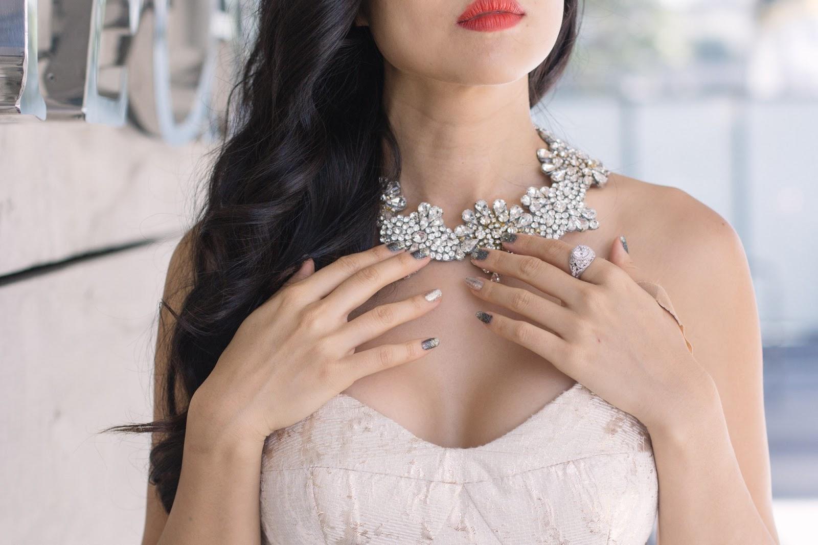 crystal necklace vintage inspired