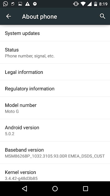 Moto Android 5.0 Lollipop Update