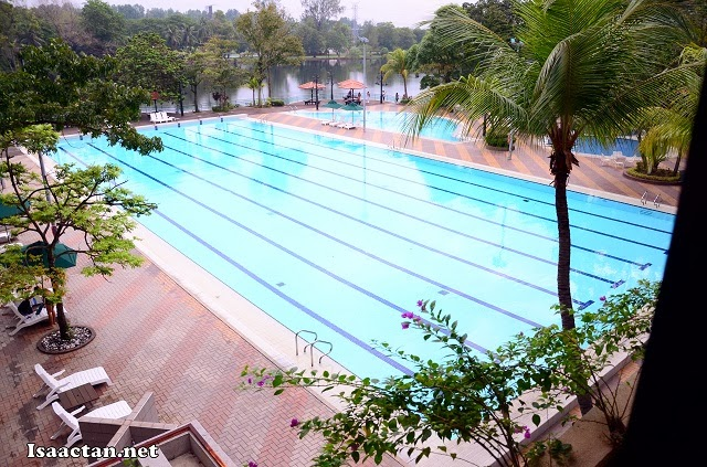 The huge Olympic size swimming pool at Holiday Villa Subang Hotel & Suites