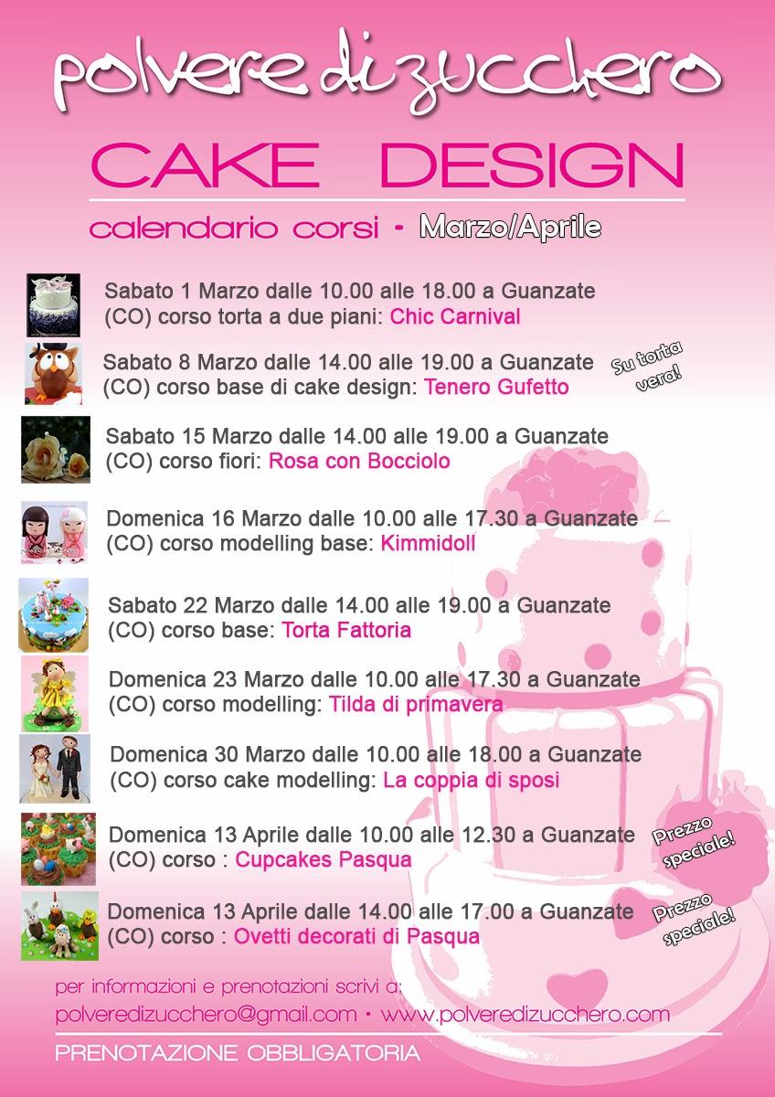 corsi di cake design: torte, biscotti, cupcakes, modelling, fiori di zucchero l'arte della decorazione