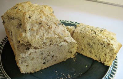 quick basil beer bread