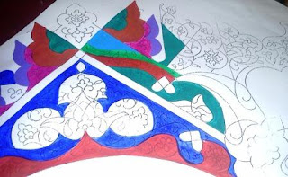contoh hiasan kaligrafi