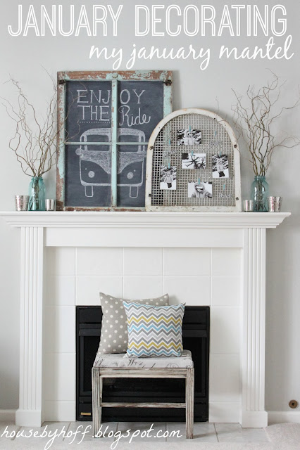 Decorating In January...{The Hardest Month Of The Year To Decorate} - House By Hoff