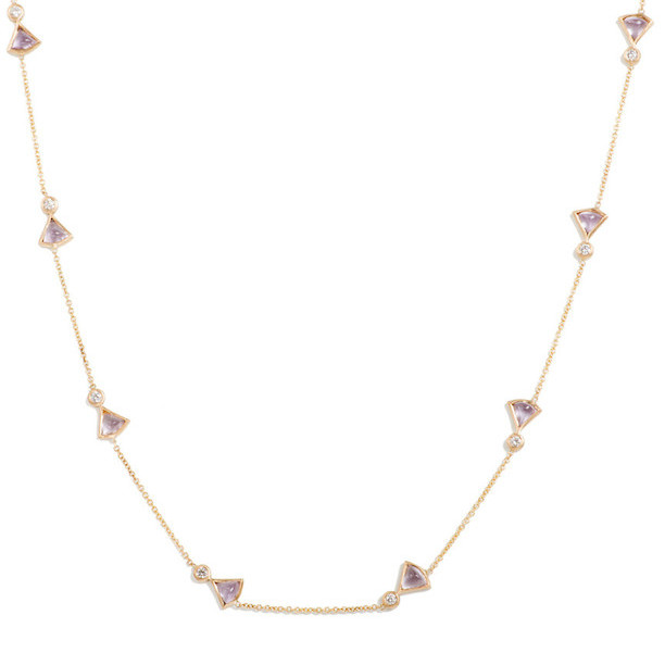 Bissell & Blaise Amethyst Fan Necklace
