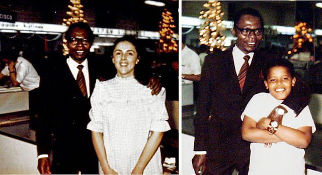 Obama Vs. Barry Soetoro Barack+Obama,+Stanley+Ann+Dunham+y+Barry+Soetoro+en+Christmas+1971+Airport+of+Honolulu