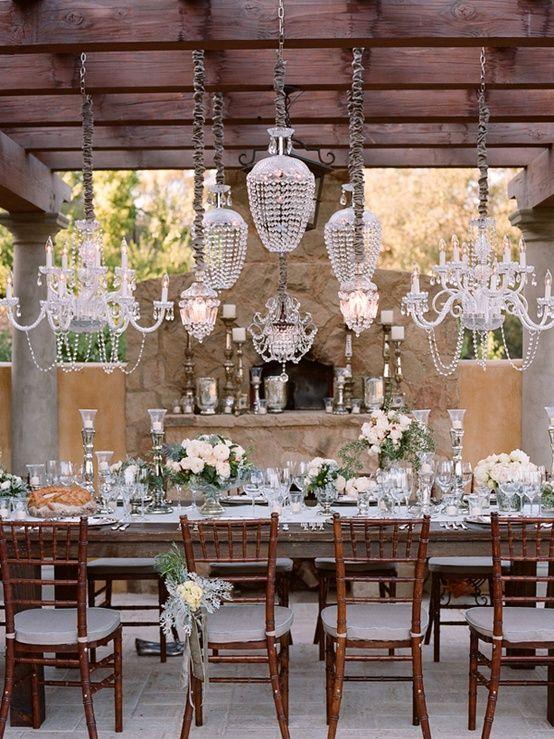 lamb blonde wedding wednesday white cream table settings. Black Bedroom Furniture Sets. Home Design Ideas