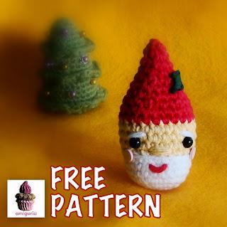 amiguria amigurumi: Free Pattern Santa Ornament