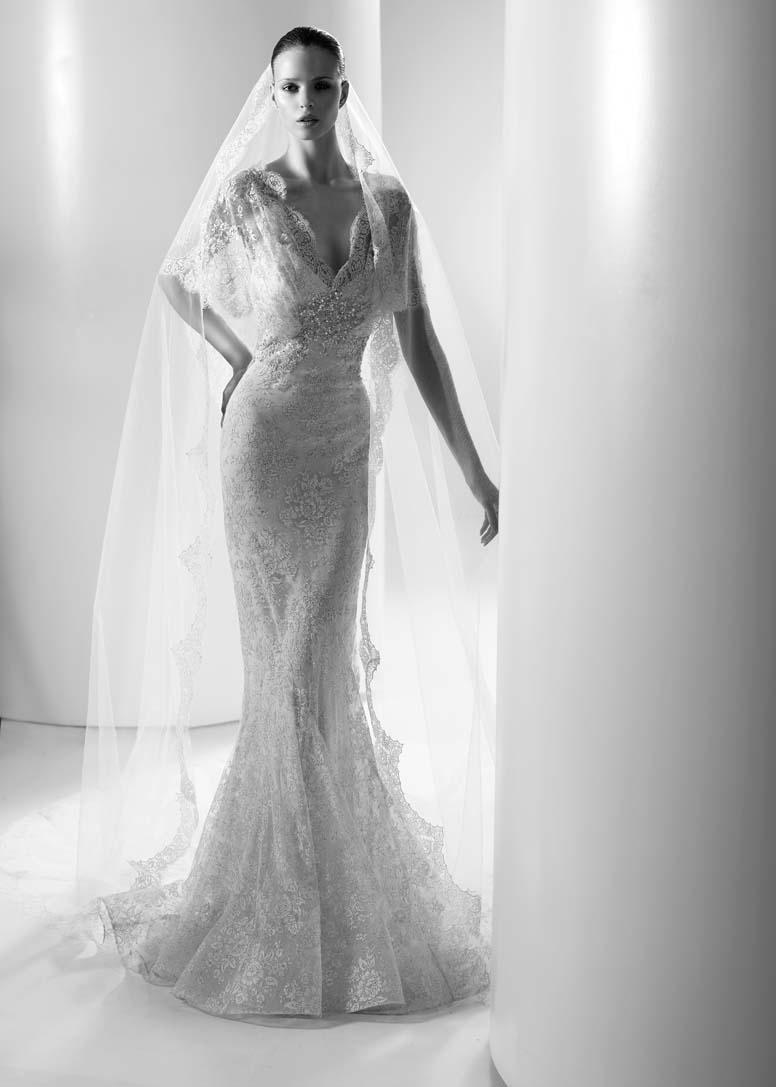 Vivienne 39 S Blog ELIE SAAB Erato Wedding Dress Customized Matching Veil