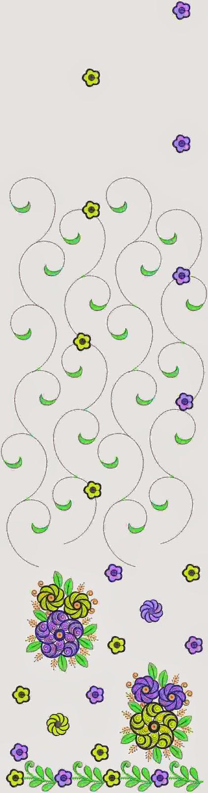 Multi Sari ontwerp is ontwerp om op sy stof