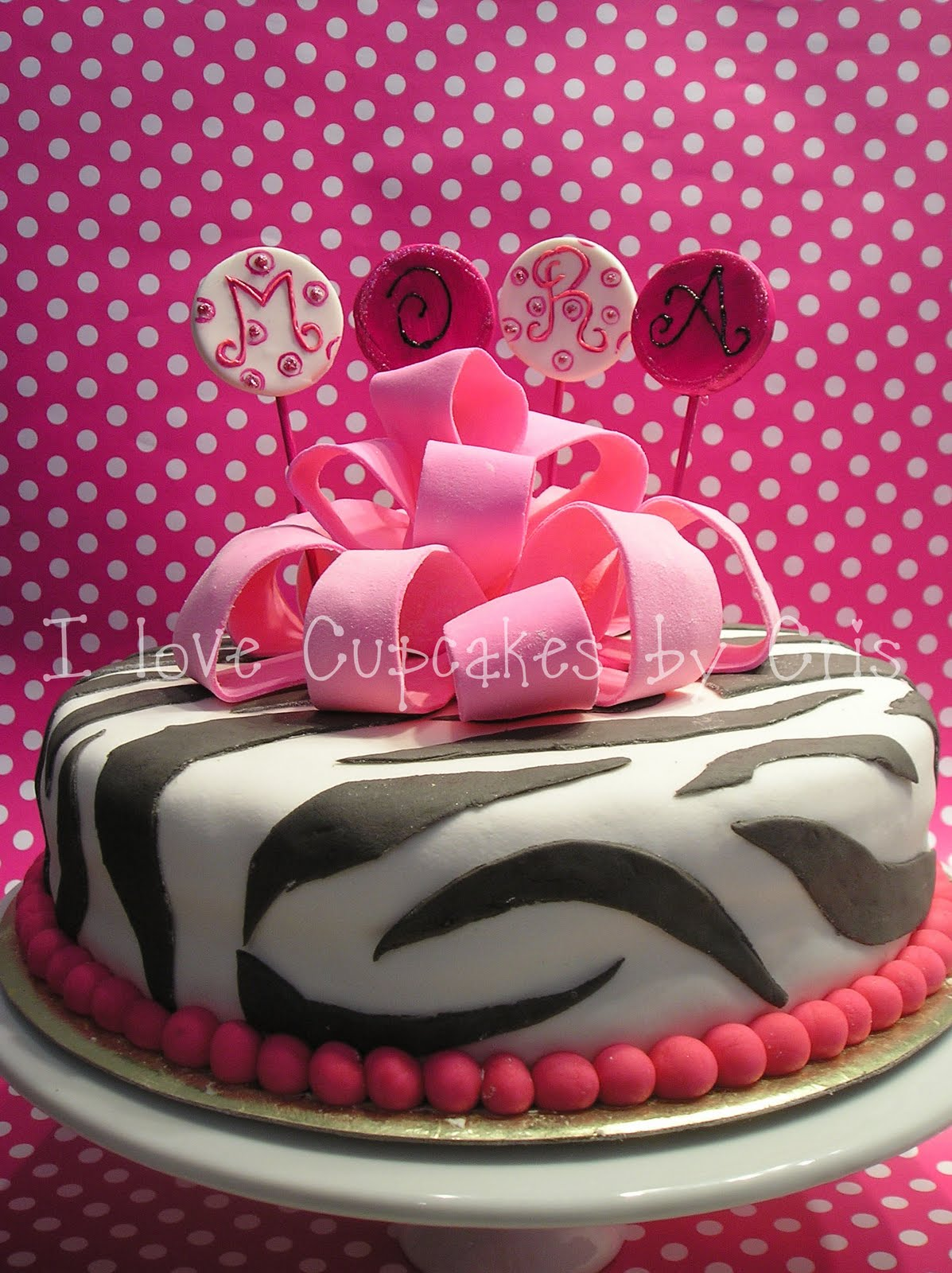love Cupcakes: Pastel Animal print para Mora