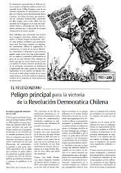 EL REVISIONISMO, PELIGRO PRINCIPAL PARA LA VICTORIA DE LA REVOLUCIÓN DEMOCRÁTICA CHILENA