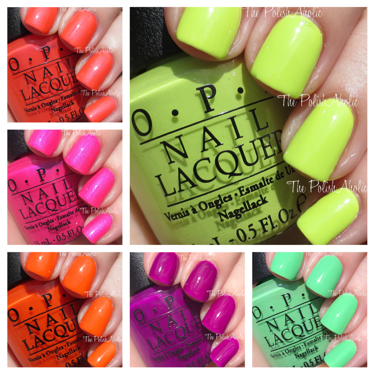 OPI Neons Collection Swatches Review