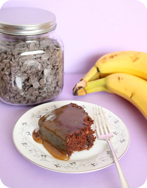 caramel banana brownies #vegan #dessert