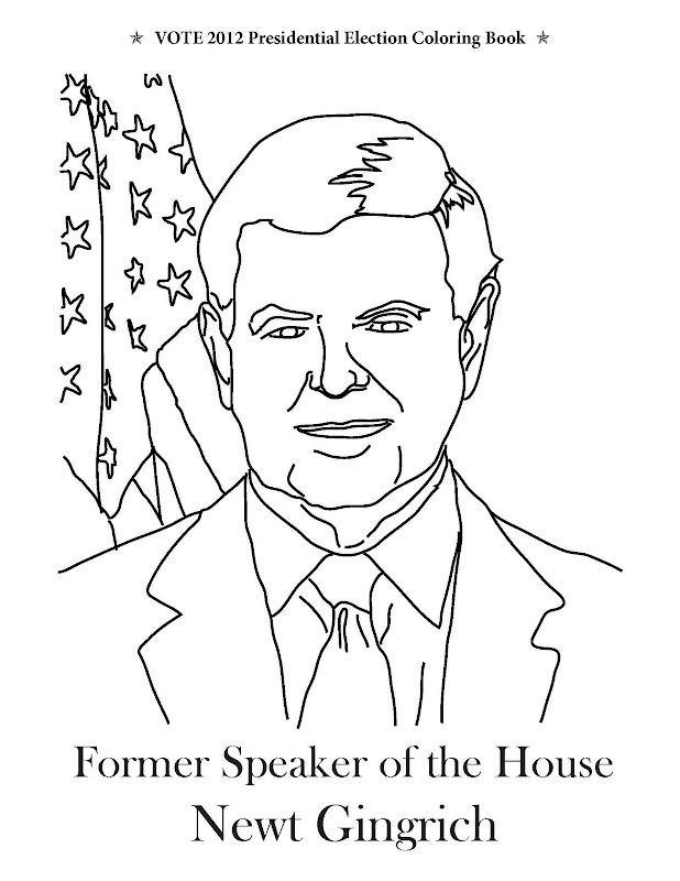 Coloring Page from Vote 2012 Presidential Election Coloring Book title=