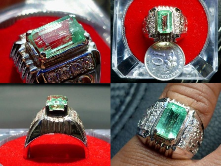 Batu Permata One Collections Cincin Zamrud Colombia