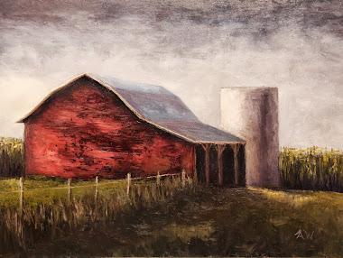 """Red barn"" 12x16"