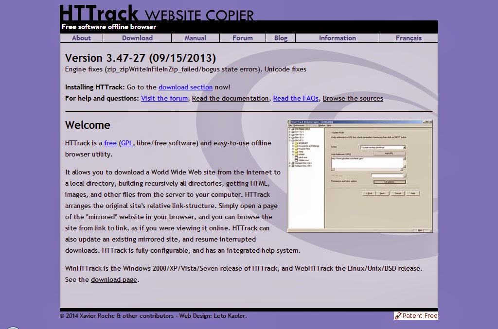 Download websites with httrack 3 42