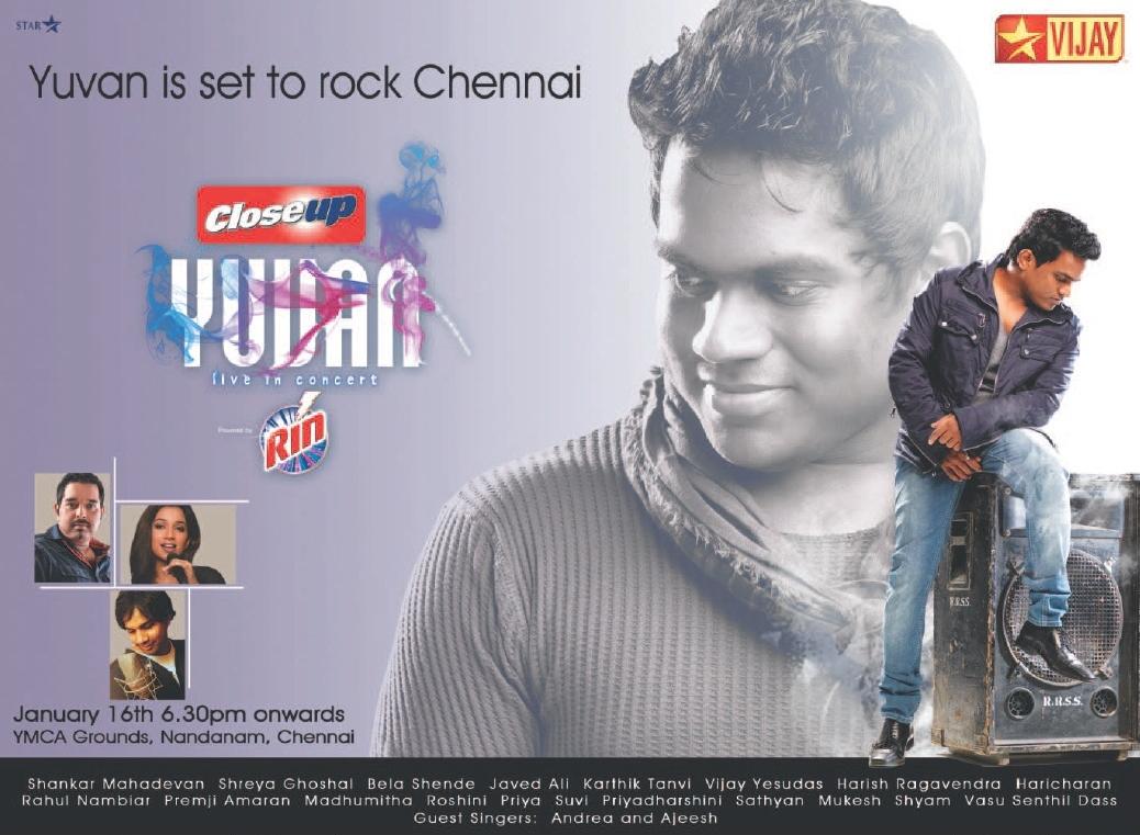 Cine Bird: Yuvan Shankar Raja Live in Concert Wallpapers Yuvan Shankar Raja Wallpapers