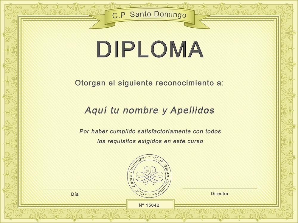 lindas plantillas de diplomas para editar