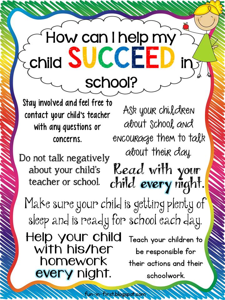 tips for parents how to help my child succeed in