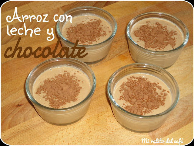 Arroz con leche y chocolate