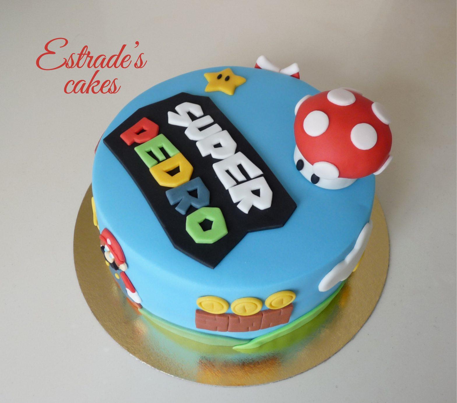 Tarta de Mario Bros sin lactosa - 4