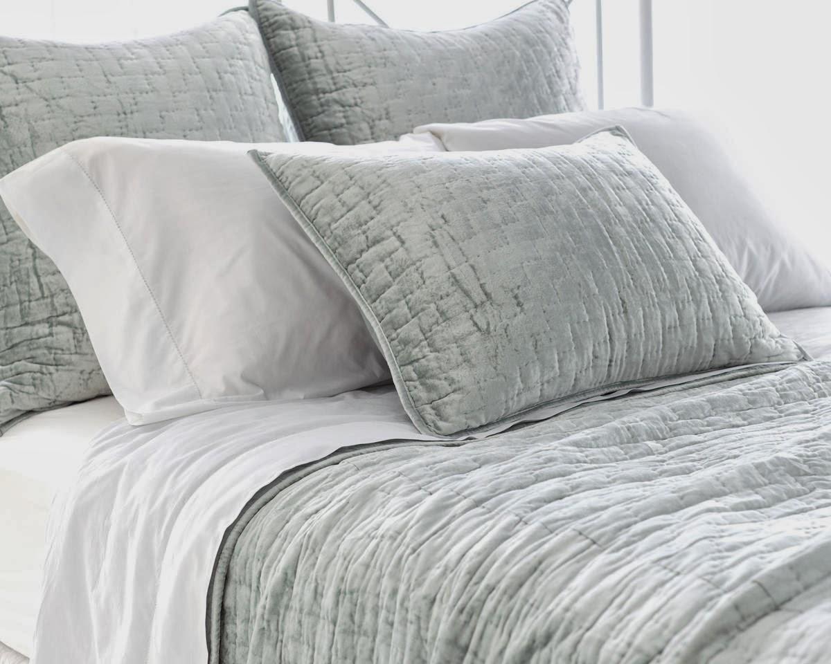 Glacier Blue Velvet Bedding From Pine Cone Hill Sheet Envy