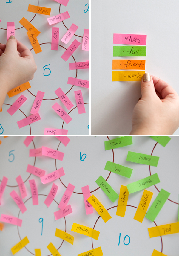 make a DIY seating chart that will give you pencil and eraser a break