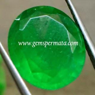 Batu Mulia Green Obsidian