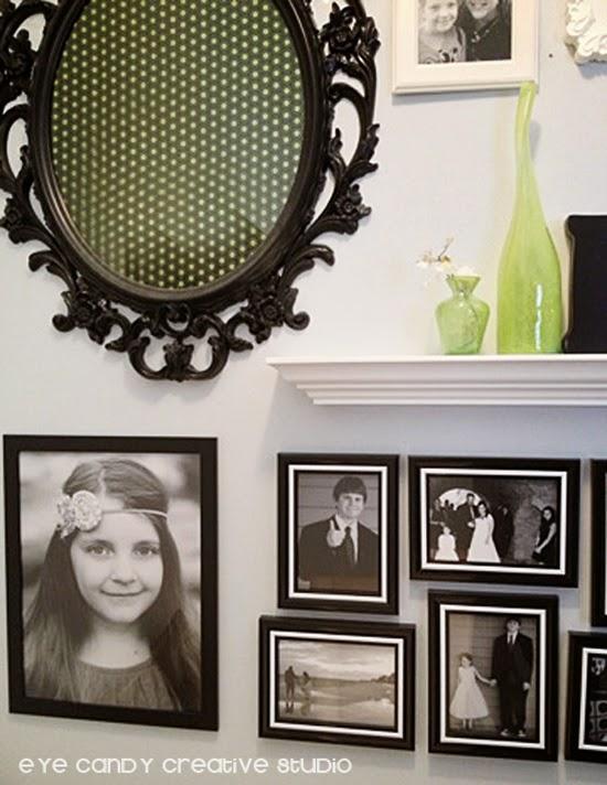 IKEA frame, black and white frames, photo gallery, white shelf, photos in black and white