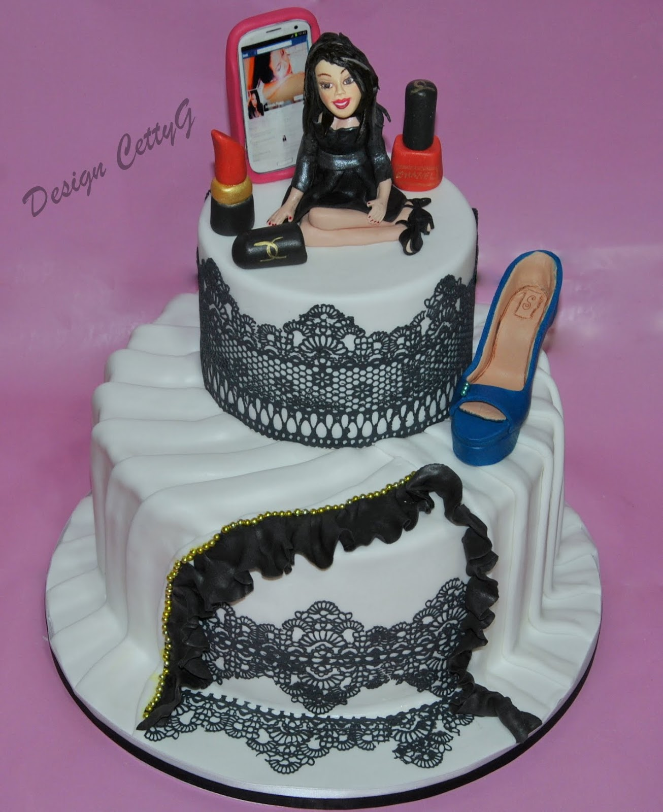Preferenza Le torte decorate di Cetty G: Fashion cake tra rouge e merletti!! BS74