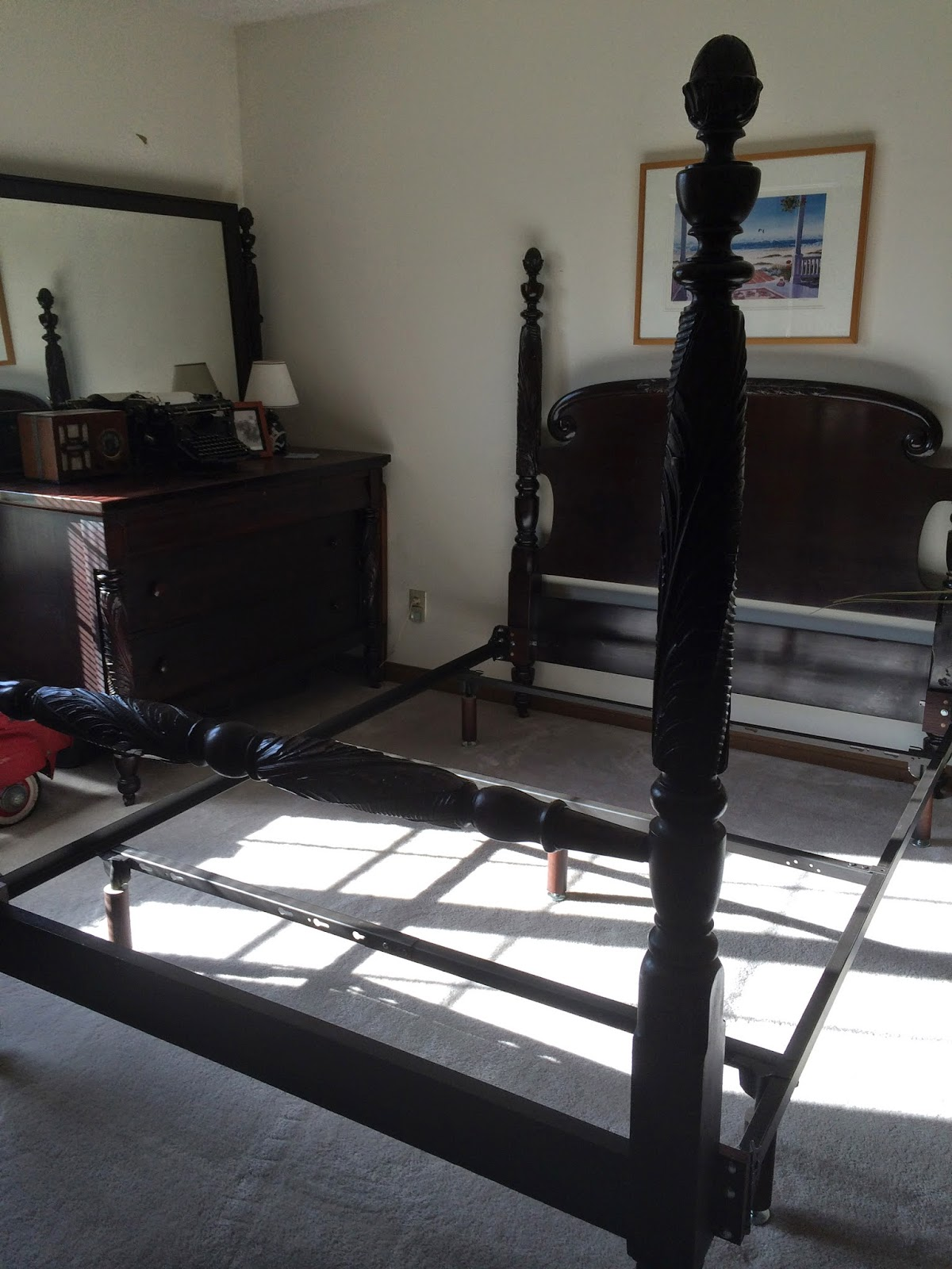 A New Chapter: DIY: Converting antique bed to queen mattress