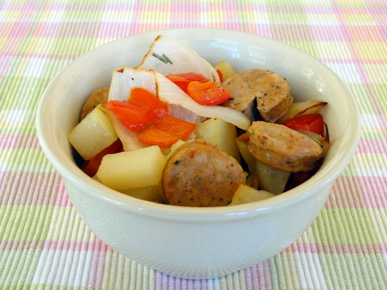 As Good As Gluten: Roasted Potatoes, Chicken Sausage and Peppers