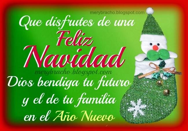 Tarjeta cristiana feliz navidad y bendiciones en el a o - Tarjetas navidenas cristianas ...