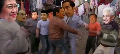 Video Lucu Jokowi vs Prabowo Joget Bareng